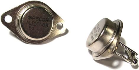 Transistorer som manschettknappar