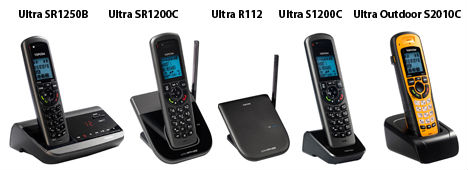 Ultra Range DECT-telefoner