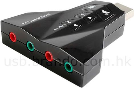Ljudadepter för USB-porten