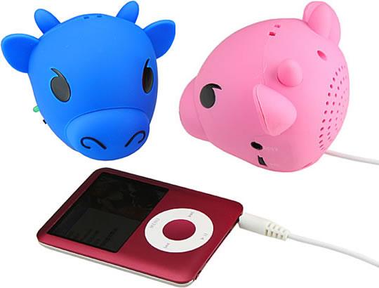 USB-högtalare i form av en ko