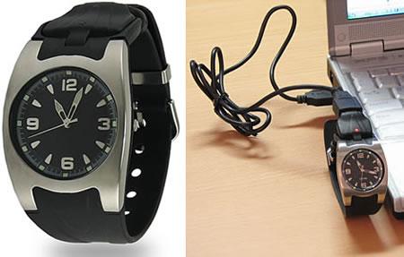 Armbandsur med USB-minne