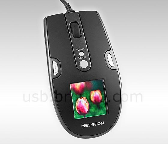 USB-mus med digital fotoram