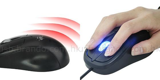 USB-mus med inbyggd värme