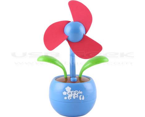 Blomma som USB-fläkt
