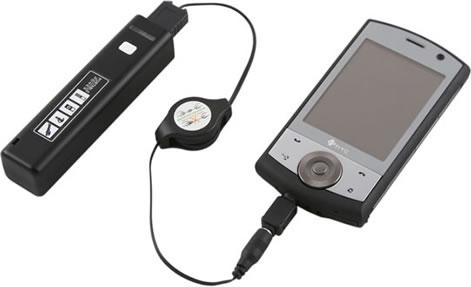 USB-laddare med ficklampa