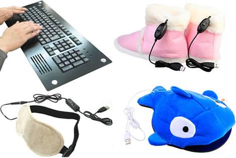 Värmade USB-prylar för en kall vinter