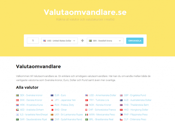 valutaomvandlare.se