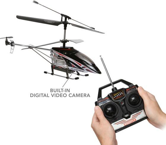 Radiostyrd helikopter med videokamera