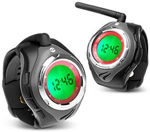 Klocka med walkie-talkie
