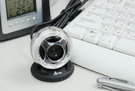 Webbkamera med högtalare och mikrofon