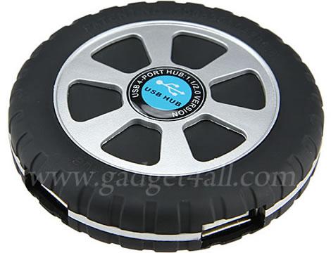 Hjul som USB-hubb