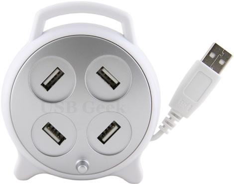 USB-hub med sladdvinda