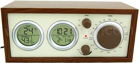 USB-klockradio i trä