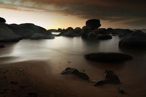 Strand mellan Camps Bay och Llandudno