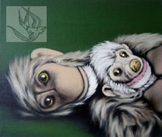 Two Monkeys On Green