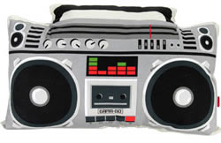 Boom Box Pillow