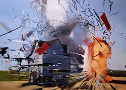 Exploderande hus