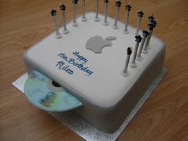 Mac Mini födelsedagstårta