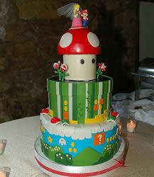 Super Mario bröllopstårta