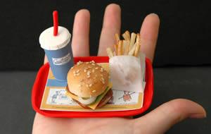 Liten hamburgermeny