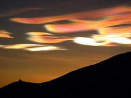 Pärlemormoln över Antarktis