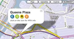 NYC t-bana + Google Maps