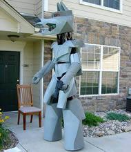 Fet robotdräkt